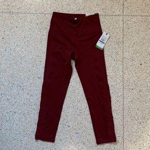Brand new Gaiam Yoga pants -cranberry color